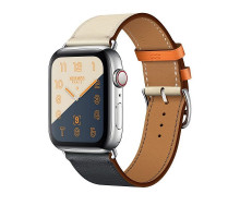 Apple Watch Series 4 Hermes GPS + LTE 44mm Steel w. Indigo/Craie/Orange (MU782)