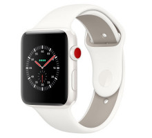Apple Watch Edition Series 3 GPS + Cellular 42mm White Ceramic w. Soft White/Pebble Sport B. (MQKD2)