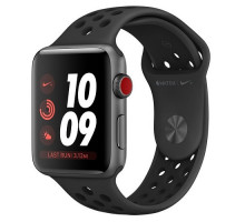 Apple Watch Nike+ Series 3 GPS 38mm Space Gray Aluminum w. Anthracite/BlackSport B. (MQKY2)