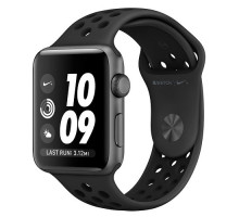 Apple Watch Nike+ Series 3 (GPS + Cellular) 42mm Space Gray Aluminum Case with Anthracite/Black Nike Sport Band (MQMF2)