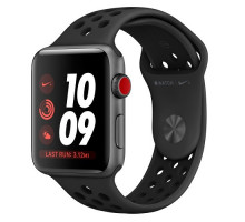 Apple Watch Nike+ Series 3 GPS + Cellular 42mm Space Gray Aluminum w. Anthracite/BlackSport B. (MQLD2)