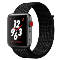 Apple Watch Nike+ Series 3 GPS + Cellular 42mm Space Gray Aluminum w. Black/Pure PlatinumSport (MQLF2)