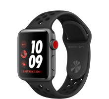 Apple Watch Nike+ Series 3 (GPS + Cellular) 38mm Space Gray Aluminum Case with Anthracite/Black Nike Sport Band (MQM82)