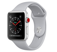 Apple Watch Series 3 GPS + Cellular 38mm Silver Aluminum w. Fog Sport B. (MQJN2)