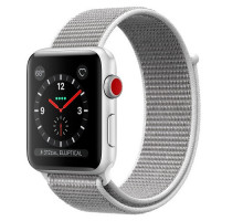 Apple Watch Series 3 GPS + Cellular 38mm Silver Aluminum w. Seashell Sport L. (MQJR2)
