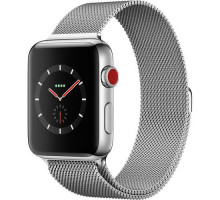 Apple Watch Series 3 GPS + Cellular 42mm Silver Aluminum w. Seashell Sport L. (MQK52)