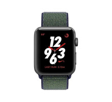 Apple Watch Nike+ Series 3 (GPS + Cellular) 38mm Space Gray Aluminum Case with Midnight Fog Nike Sport Loop (MQLA2, MQMD2)