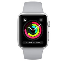Apple Watch Series 3 (GPS) 42mm Silver Aluminum w. Fog Sport B. - Silver (MQL02)