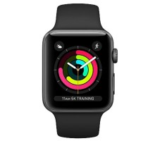 Apple Watch Series 3 (GPS) 38mm Space Gray Aluminum w. Gray Sport B. - Space Gray (MR352)