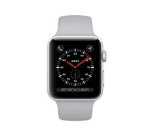 Apple Watch Series 3 (GPS + Cellular) 42mm Silver Aluminum Case w. Fog Sport B. (MQKM2)