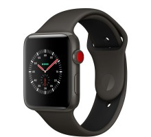 Apple Watch Edition Series 3 (GPS + Cellular) 42mm Gray Ceramic w. Gray/Black Sport B. (MQKE2)