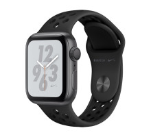 Apple Watch Nike+ Series 4 GPS + LTE 40mm Gray Alum. w. Anthracite/Black Nike Sport b. Gray Alum. (MTX92)