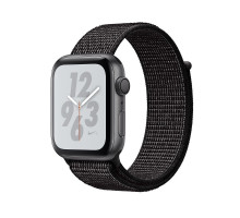 Apple Watch Nike+ Series 4 GPS + LTE 40mm Gray Alum. w. Black Nike Sport l. Gray Alum. (MTX82)