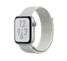 Apple Watch Nike+ Series 4 GPS + LTE 44mm Silver Alum. w. Summit White Nike Sport l. Silver Alum. (MTXA2)