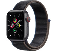 Смарт-часы Apple Watch SE GPS + Cellular 40mm Space Gray Aluminum Case with Charcoal Sport L. (MYEE2)
