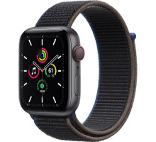 Смарт-часы Apple Watch SE GPS + Cellular 44mm Space Gray Aluminum Case with Charcoal Sport L. (MYEU2)