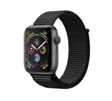 Apple Watch Series 4 GPS + LTE 40mm Space Gray Aluminum Case with Black Sport Loop (MTVF2)