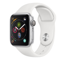 Apple Watch Series 4 GPS + LTE 40mm Silver Alum. w. White Sport b. Silver Alum. (MTUD2)