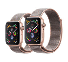 Apple Watch Series 4 GPS 44mm Gold Alum. w. Pink Sand Sport l. Gold Alum. (MU6G2)