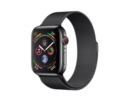 Apple Watch Series 4 GPS + LTE 40mm Black Steel w. Black Milanese l. Black Steel (MTUQ2)
