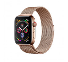 Apple Watch Series 4 GPS + LTE 40mm Gold Steel w. Gold Milanese l. Gold Steel (MTUT2)