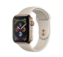 Apple Watch Series 4 GPS + LTE 40mm Gold Steel w. Stone Sport B. (MTUR2)