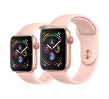 Apple Watch Series 4 GPS + LTE 44mm Gold Alum. w. Pink Sand Sport b. Gold Alum. (MTV02)