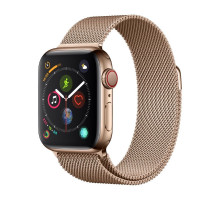 Apple Watch Series 4 GPS + LTE 44mm Gold Steel w. Gold Milanese l. Gold Steel (MTV82)