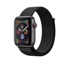 Apple Watch Series 4 GPS + LTE 44mm Gray Alum. w. Black Sport l. Gray Alum. (MTUX2)