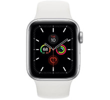 Смарт-часы Apple Watch Series 5 GPS + LTE 40mm Silver Case w. White Sport Band (MWWN2)
