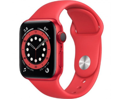 Смарт-часы Apple Watch Series 6 GPS + Cellular 40mm (PRODUCT)RED Aluminum Case w. (PRODUCT)RED Sport B. (M02T3)