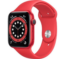 Смарт-часы Apple Watch Series 6 GPS + Cellular 44mm PRODUCT(RED) Aluminum Case w. PRODUCT(RED) Sport B. (M07K3)
