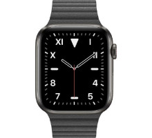 Смарт-часы Apple Watch Edition Series 5 GPS + LTE 44mm Space Black Titanium w. Black Leather L. - Medium (MXAA2)