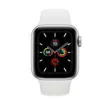 Apple Watch Series 5 LTE 44mm Silver Aluminum w. White b.- Silver Aluminum (MWVY2) / MWWC2