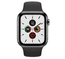Apple Watch Series 5 LTE 44mm Space Black Steel w. Black b.- Space Black Steel (MWW72) / MWWK2