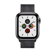 Apple Watch Series 5 LTE 44mm Space Black Steel w. Space Black Milanese Loop - Space Black Steel (MWW82) / MWWL2