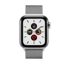 Apple Watch Series 5 LTE 44mm Steel w. Steel Milanese Loop - Steel (MWW32) / MWWG2