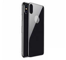 Baseus Защитное стекло Silk-Screen Back Glass Film для Apple iPhone X Black
