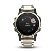 Garmin fenix 5s Sapphire Champagne with Metal Band (010-01685-15)