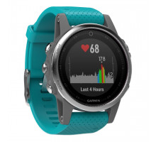 Garmin Fenix 5S Silver with Turquoise Band (010-01685-01)