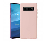 Чехол для Samsung Galaxy S10 Plus Pink  Soft Matte Case