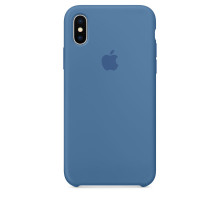 Apple iPhone X Silicone Case Denim Blue (hight copy)