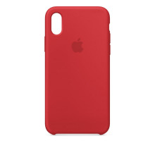 Apple iPhone X Silicone Case Red (like orig)