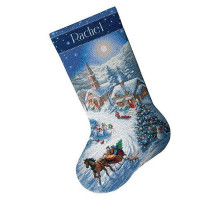 Набор для вышивания DIMENSIONS Sleigh Ride at Dusk Stocking (08712)