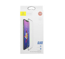 Baseus Tempered Glass Silk-screen All-screen 0.3mm iPhone X Black (SGAPIPHX-KC01)