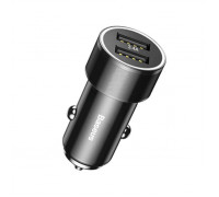 Автомобильное зарядное Baseus Small Screw 3.4A Dual-USB Car Charger Black (CAXLD-C01)