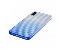Hoco Lattice Series Protective Cover for iPhone X Shining Blue