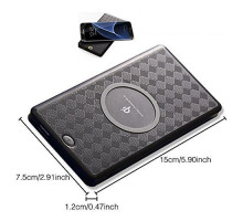 QI 2 in 1 Wireless Charger Power Bank 6000mAh Black