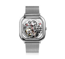 Мужские часы Xiaomi CIGA Design full hollow mechanical watches Silver
