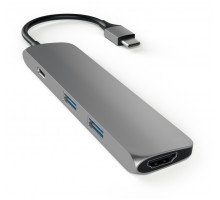 Satechi Aluminum Type-C Slim Multi-Port Adapter 4K Space Gray (ST-CMAM)